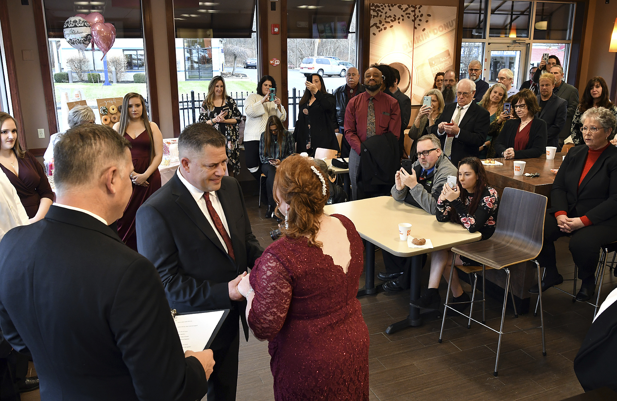Dunkin Donuts wedding