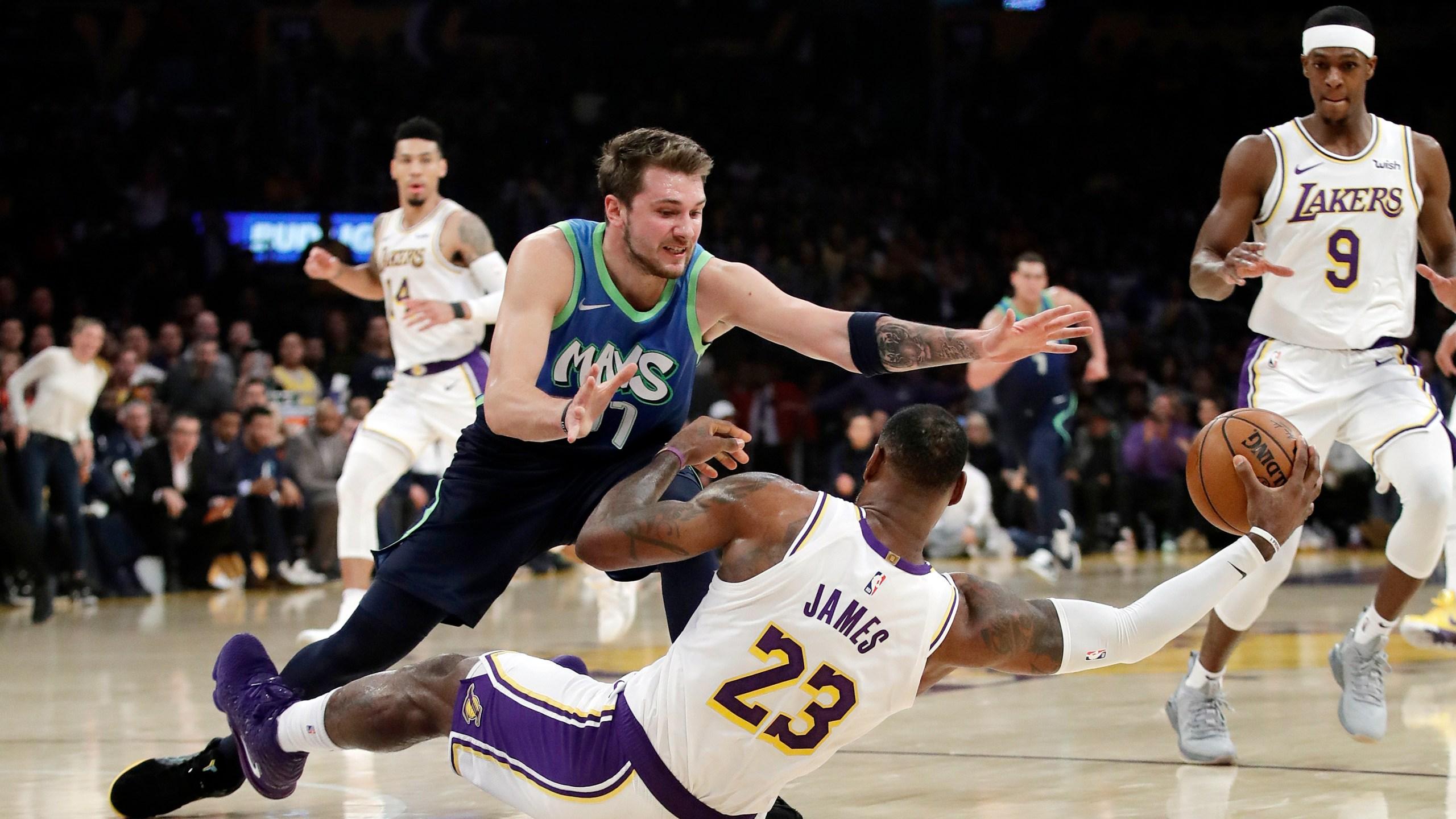 Luka Gets 27 Mavs Snap Lakers 10 Game Win Streak 114 100