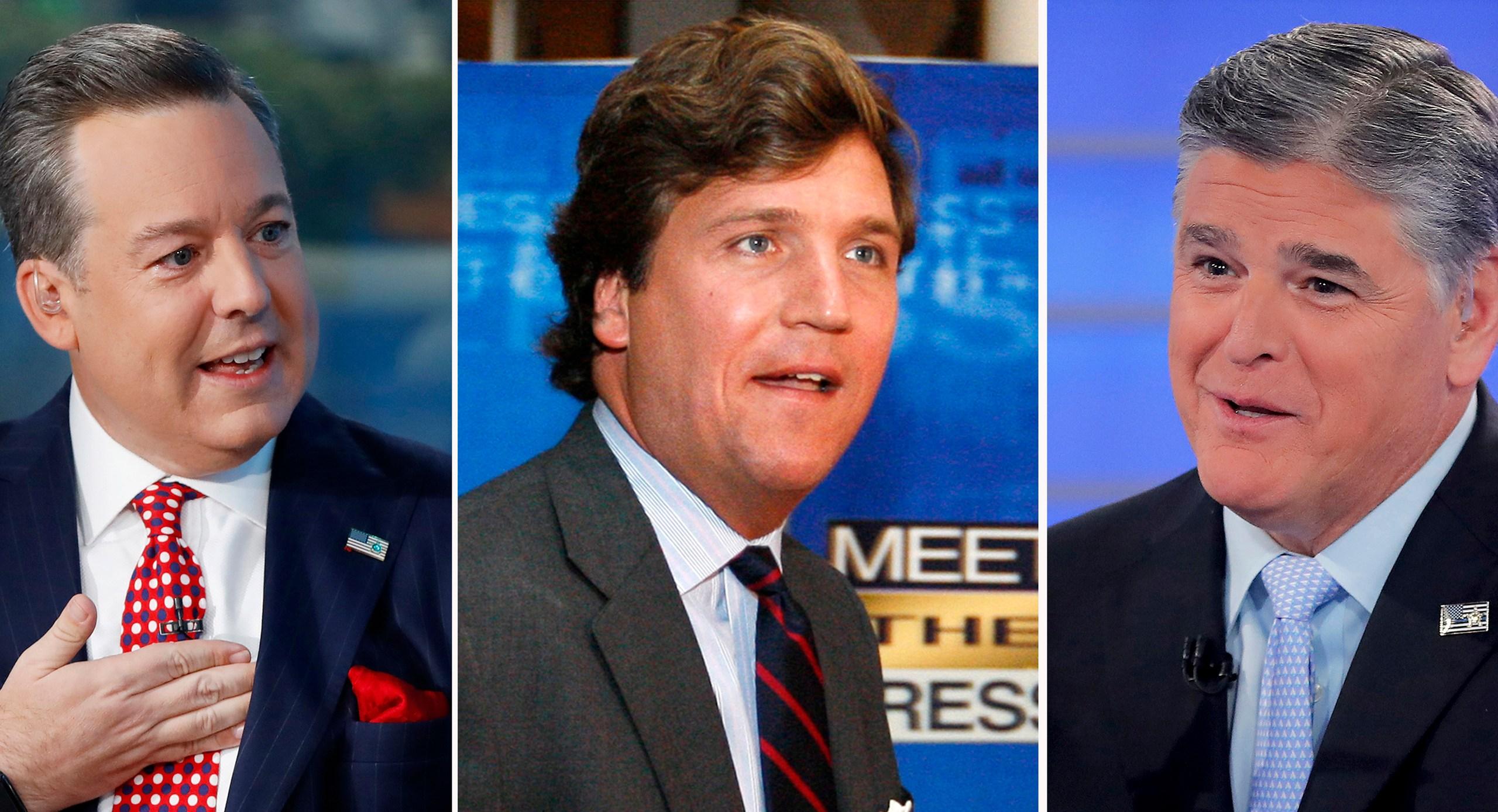 Ed Henry, Steve Doocy, Ainsley Earhardt, Brian Kilmeade, Tucker Carlson, Sean Hannity
