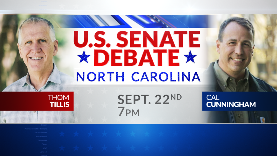 This image has an empty alt attribute; its file name is US-Senate-Debate-NC-Tease-Date-no-logo.png