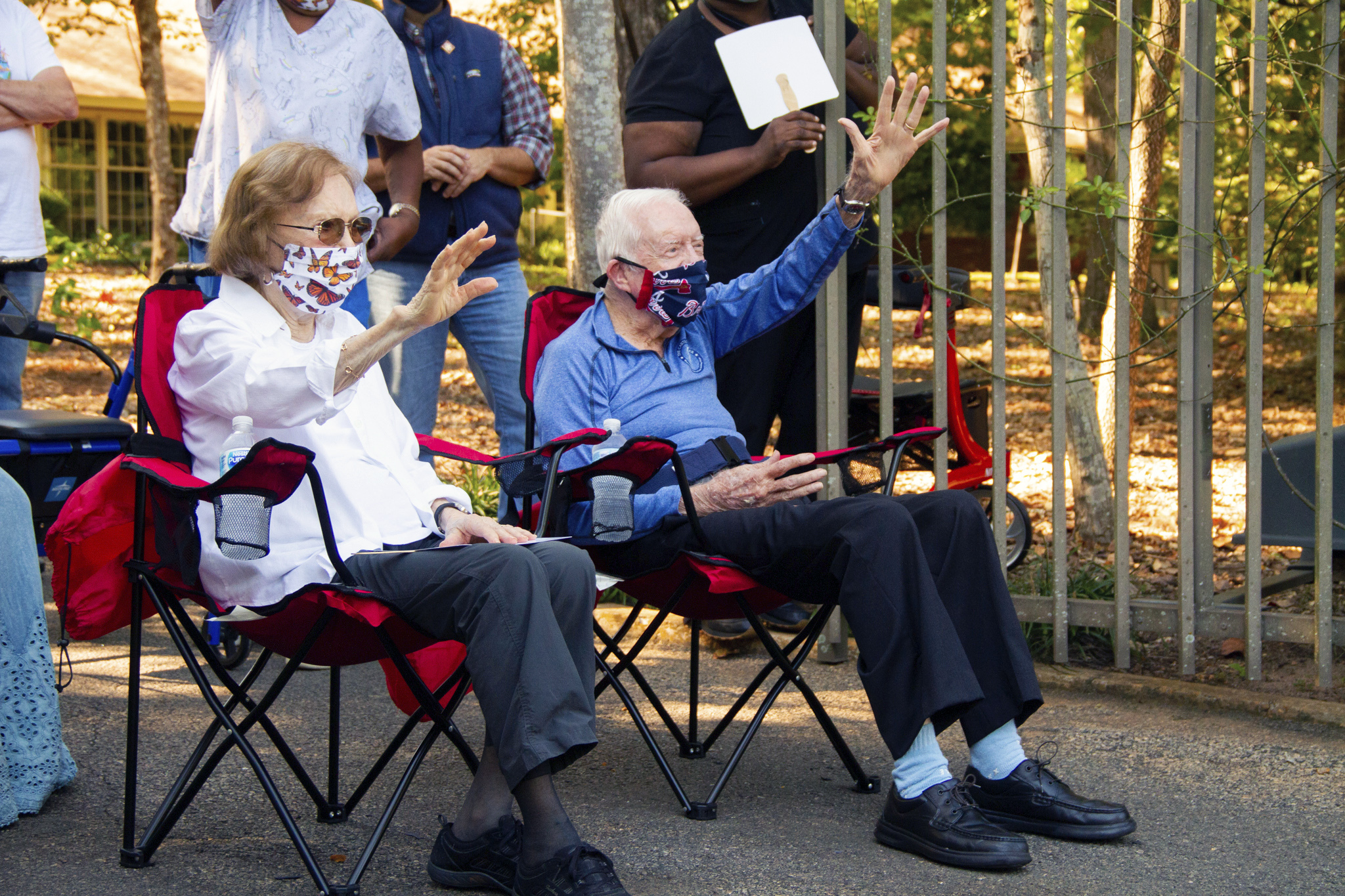 James Carter 2020 Halloween Mask A mask and parade: Jimmy Carter celebrates 96th birthday | CBS 17