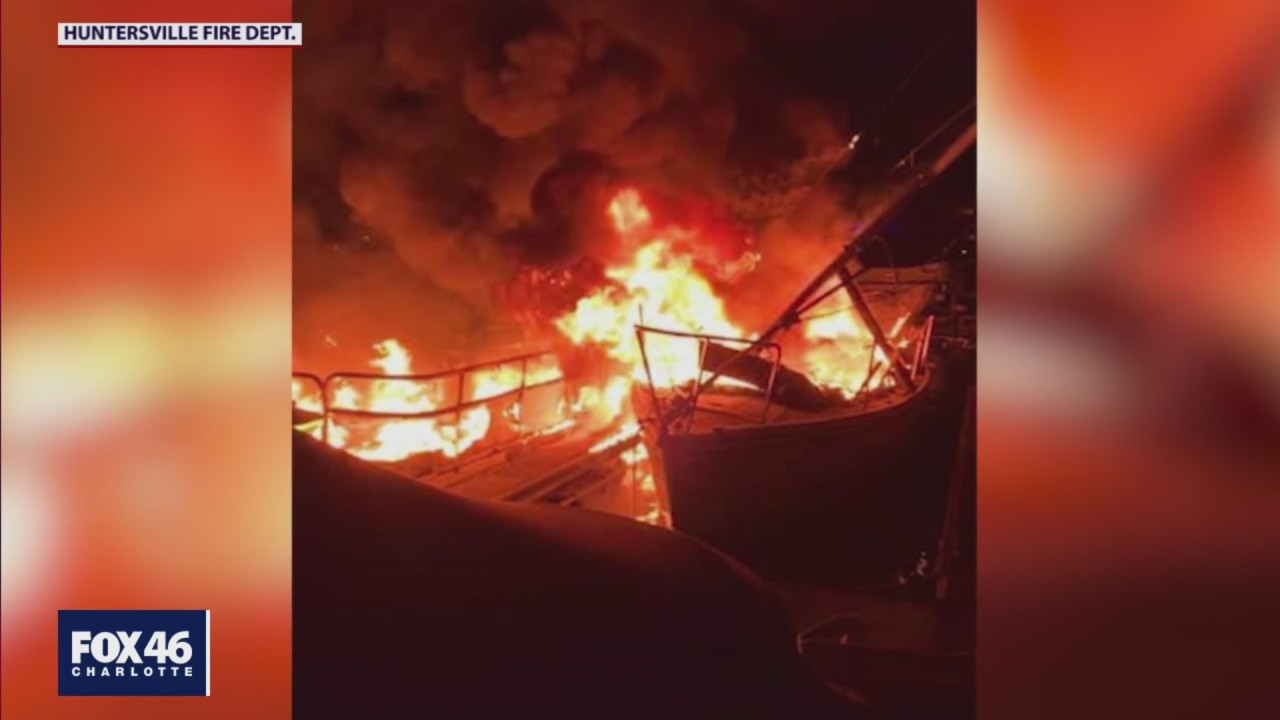 Several boats gutted in NC marina fire; cause of blaze remains unknown