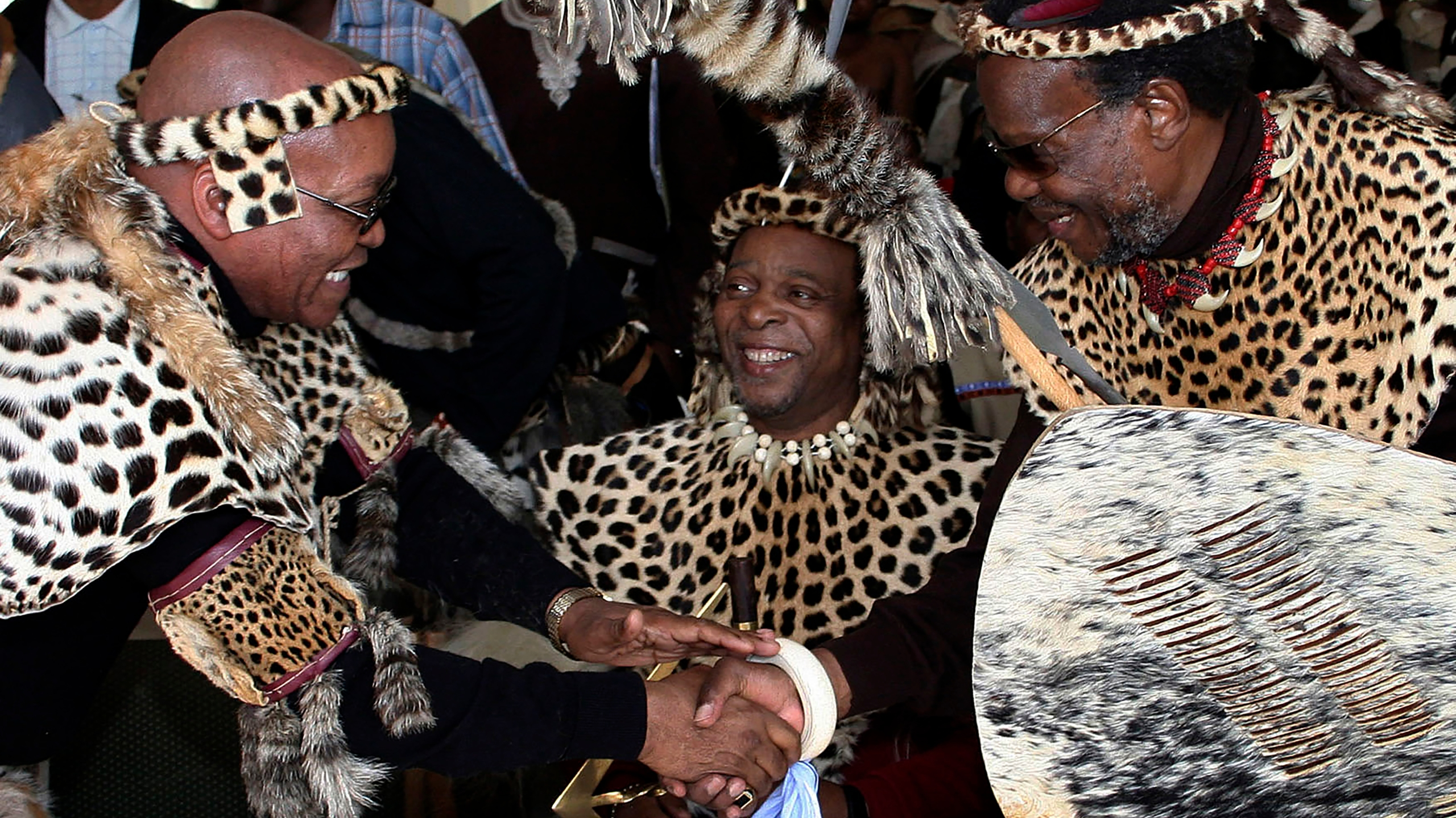Zulu King Goodwill Zwelithin, Jacob Zuma
