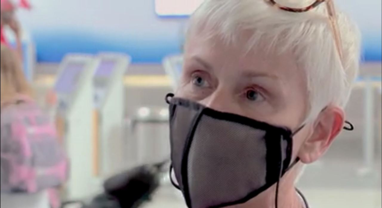 Woman says she wasn't allowed on flight at NC airport because mask was see-through