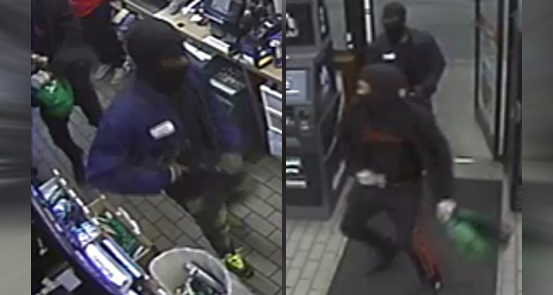 Images of two men accused of robbing a Circle K in Fayetteville on Oct. 5.